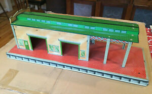 Vintage Marx Freight Train Terminal Tin Lithographed Toy Building 1950s