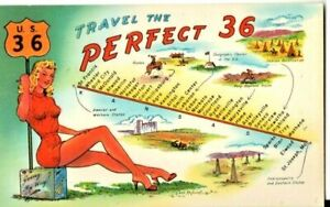 comic postcard: Saluting Route 36