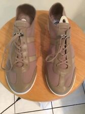 Womens Shoes DKNY toggle lace Fashion Leather and elastic Sneakers NWOB