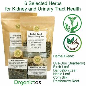 Organic Kidney Tea 6 selected Herbs for Urinary Tract Health, Stone Breaker, etc