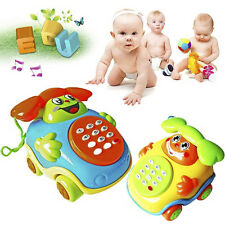 Creative Baby Wired Music Smiling Face Children Cartoon Phone Educational Toys