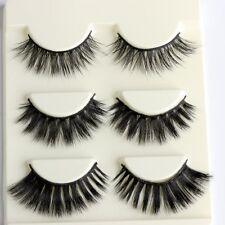 3Pairs3 In 1 3D Mink Hair False Eyelashes Long Thick Natural Eye Extension Tool