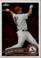 2011 Topps Chrome Baseball #150 Albert Pujols St. Louis Cardinals