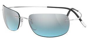 Occhiali da Sole Silhouette TMA MUST 8713 Silver/Grey Blue taglia unica unisex