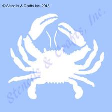"6.5"" CRAB STENCIL STENCILS TEMPLATE BEACH NAUTICAL SEA CRAFT MOLLUSK MARINE NEW"