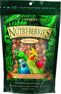 Lafeber TROPICAL FRUIT Nutri Berries PARROT Food 10 oz Nutritious Papaya Mango