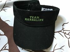 Team Herbalife Stitch Embroider Golf Sun Visor Hat Black Adjustable Champion One