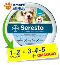 Seresto Bayer 1 / 2 / 3 / 4 / 5 - Collare per CANI fino a 8 kg - Cane piccolo