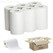 NEW 26610 SofPull Paper Towel Roll 1-Ply 9x400 White Pack of 6