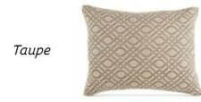 Croscill Alana Taupe King Pillow Sham~ Embroidered New In Packaging!