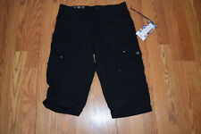 NWT Womens ONE 5 ONE Light Weight Pull On Capris Shorts Black Size XXL