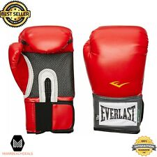 Boxing Training Gloves Red Vinyl Imported Workout Training Gym Fitness Men Women