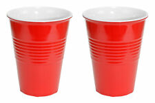 20oz Red Hard Plastic Cup 2 Pack Drink Solo Or W/ Friends Novelty Beer Wine Set