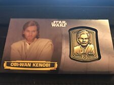 Star Wars Attack Of The Clones 3D Widevision Medallion Card Obi-Wan Kenobi 02/10
