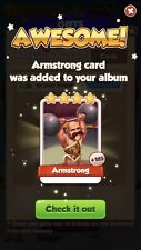 25 x Armstrong Coin Master Cards ( Fast Delivery )