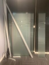 Glass Partitioning - with frosting different sizes and frame