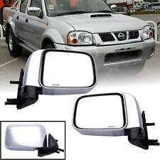 LH RH CHROME SIDE DOOR REAR VIEW MANUAL MIRROR FIT FOR NISSAN FRONTIER D22 98-04