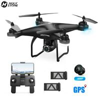 Holy Stone HS120D GPS drone with camera FPV 2 battery RC quadcopter follow me US