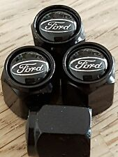 DELUXE TYRE VALVE DUST CAPS ALLOY ALL MODELS ST RS FOCUS FIESTA KA KUGA MUSTANG