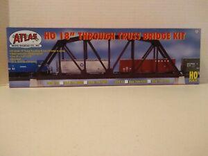 "Atlas HO Scale 18"" Through Truss Bridge Kit- Silver #594 (Code 83)"