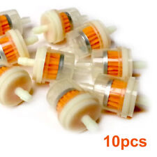 """10x Universal Inline Gas/Fuel Filter 6MM-7MM 1/4"""" Lawn Mower Small Engine ABS"""