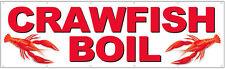 3x10 ft Crawfish Boil Vinyl Banner Sign New - wb