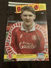 1992 Middlesbrough V Oxford United Football Programme