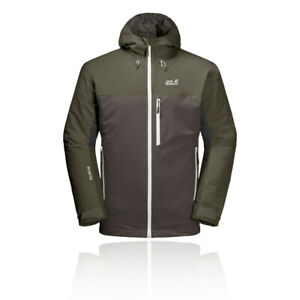Jack Wolfskin Mens Eagle Peak Insulated Jacket Top Green Grey Sports Outdoors