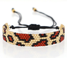 Leopard MIYUKI Bracelet Seed Bead Wrap Japanese Jewelry