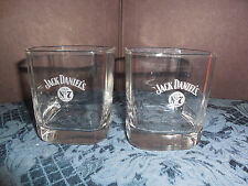 JACK DANIEL'S CLEAR WHITE LETTERING (2) ON THE ROCKS  GLASS NO. 7 ON FRONT