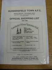 1987/1988 Huddersfield Town: Official Shopping List - Souvenir Shop Price List.