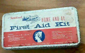 SENTINEL - Home & Auto First Aid Kit Made in Cleveland Ohio Vintage Very Clean⭐️