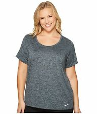 Nike Dry Legend (Plus Size) Womens Shirt Top  1x  Black gray