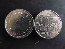 Pièce de monnaie coin CANADA 1 DOLLAR 1982 confédération constitution