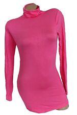 Damen Rollkragenshirt t-shirt Top Long  Langarmshirt Rolli Rollkragenpulli 36-42