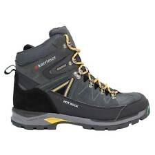 Karrimor Mens Hot Rock Walking Boots Lace Up Waterproof Rubber Toe Cap Metallic