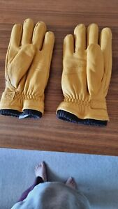 Hestra gloves Size 8 Elk Leather Natural Yellow