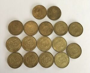 Vintage 1984 - 2000 GOLD Chuckie Cheese Pizza Time Theatre Game Coins Tokens