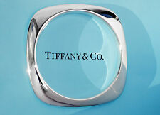 Tiffany & Co Sterling Silver Cushion Bangle Bracelet Size MEDIUM