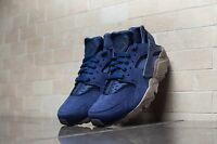 NIKE AIR HUARACHE RUN SE SUEDE  BINARY BLUE 100% Authentic Running Trainers