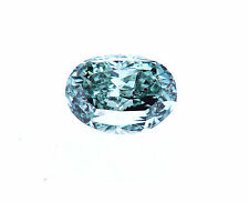 RARE NATURAL FANCY VIVID BLUE GREEN GIA Certified Loose Diamond Oval Cut 1/2 CT