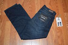 NWT Mens DKNY JEANS Whiskered Dark Denim Soho Straight Leg Jeans Sz 32 W 30 L