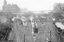 Photo. 1956-7. UK. Sky View of Edinburgh Waverley Railway Station Tracks