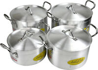 (High Quality) - Aluminium Casserole Cooking Stock Pots With Lid (24cm - 30cm)