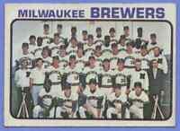 1973 Topps Team Card Milwaukee Brewers #127