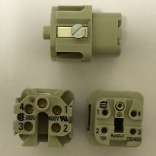 3 piezas 09200042711 X Harting Conector Hembra han un tamaño de PIN5 4+PE 3A Tornillo UK