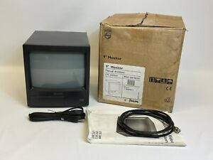 Philips LTC 2009/61 Vintage Video  Monitor in Box W/ Manual and Cords