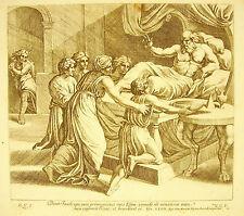 Isaac Jacob Essau Génèse XXVII La Bible Nicola Chaperon 1649 ap Raphaël Vatican
