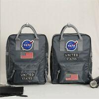 US NASA Backpack Nylon Shoulder Bags School Bag Travel Rucksack Multifunction