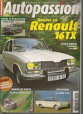 AUTOPASSION 2 RENAULT 16 TX PANHARD PL17 FOURGONNETTE BMW 700 COUPE PEUGEOT D4B